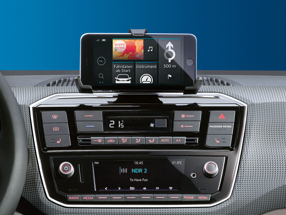 vw e-up! elektroauto display radio